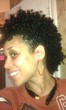 pinned sides with bangs - Curly kinky hair, 3c