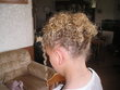 my daughters up-do - Blonde