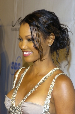 Garcelle Beauvais - Celebrities, Updos, Kinky hair, Long hair styles, Female, Black hair, Knots hairstyle picture