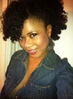 twist out w  side pinned - Kinky hair