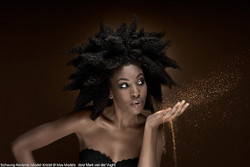 spikey fro - Medium hair styles, Kinky hair, Female, Black hair, 4c hairstyle picture