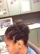 flat45twist updo - black hair