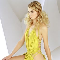 Elegant 'do - Blonde, 2b, Wavy hair, Long hair styles, Styles, Female, Adult hair hairstyle picture