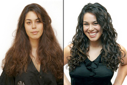 Christo Takes Marina from Drab to Fab - Brunette, 3c, Long hair styles, Female, Curly hair, Makeovers hairstyle picture