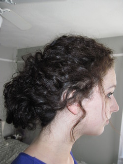 Wedding Guest Hair - Brunette, 3b, Long hair styles, Female, Adult hair, Prom hairstyles, Formal hairstyles, Homecoming hairstyles, Buns hairstyle picture