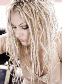 Silky Dreads - Blonde, Long hair styles, Styles, Female, Adult hair, Silky dreads hairstyle picture