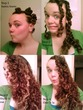 sleek waves from bantu knots - 2a, 2b