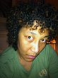 a different view - Curly kinky hair, 3c