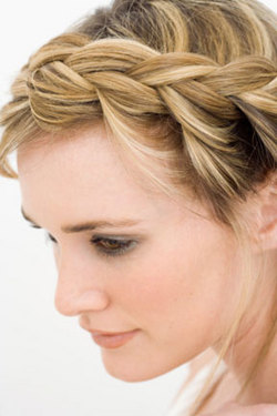 French Braid - Blonde, Styles, Female, Adult hair, Straight hair, Prom hairstyles, Formal hairstyles, Homecoming hairstyles, French braids hairstyle picture