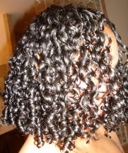 Random curl patern - 3b, 3a, 3c, Medium hair styles, Fall hair, Readers, Female, Curly hair, Black hair hairstyle picture