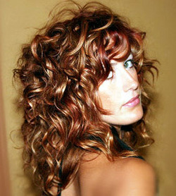Layered + Volumonous Curls - Redhead, 3a, Medium hair styles, Styles, Female, Curly hair hairstyle picture