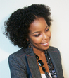 braid out on transitioning hair - 3c