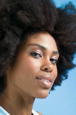 Afro  - Brunette, Medium hair styles, Kinky hair, Afro, Styles, Female, Black hair, Adult hair, 4c hairstyle picture