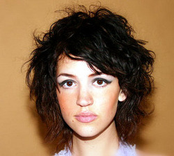 Spunky Curls - Brunette, 2b, Wavy hair, Short hair styles, Styles, Female, Curly hair hairstyle picture