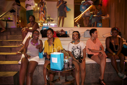Naturals Enjoying Themselves Poolside at the Curly Pool Party - Short hair styles, Updos, Kinky hair, Twist hairstyles, Afro, Female, Dreadlocks, Textured Tales from the Street hairstyle picture