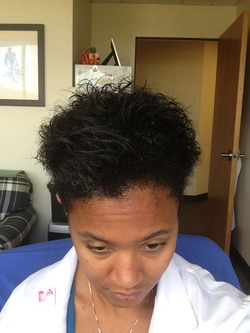 Fro Hawk take 2 - Brunette, 3c, 4a, Short hair styles, Female, Black hair, Adult hair, Mohawk hairstyle picture