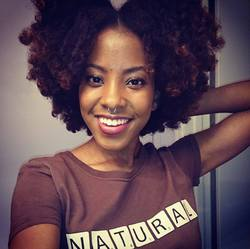 Quick No-Heat Blow Out for 4ABC Hair - Brunette, 4b, Short hair styles, Kinky hair, Female, Curly hair, Teen hair, Adult hair, Afro puff, Curly kinky hair, 4c hairstyle picture