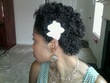 wedding style - kinky hair