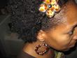 hair doodads and earrings - kinky hair
