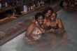 curly wavy and locked beauties enjoy the pool - kinky hair
