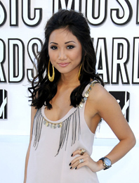 Brenda Song - Celebrities, Wavy hair, Medium hair styles, Long hair styles, Female, Curly hair, Black hair hairstyle picture
