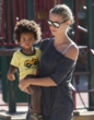 johan with mom heidi klum - twist hairstyles