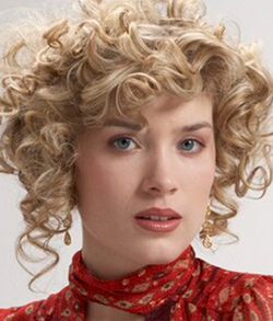 Brocato Curl Karma Zenergy - Blonde, 3a, Medium hair styles, Updos, Styles, Female, Curly hair hairstyle picture