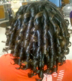 curls w/marcels(irons) - Blonde, Mature hair, Kinky hair, Long hair styles, Styles, Female, Curly hair, Teen hair, Black hair, Adult hair, Spiral curls, Curly kinky hair, Natural Hair Celebration hairstyle picture