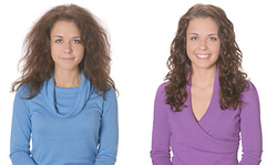 Ouidad Makeover for Fine Hair - Brunette, 3a, Medium hair styles, Female, Curly hair, Makeovers hairstyle picture