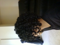 two strand twists meet flexi rods - Brunette, 4a, Short hair styles, Kinky hair, Readers, Female, Black hair, Adult hair, Spiral curls, Twist out hairstyle picture