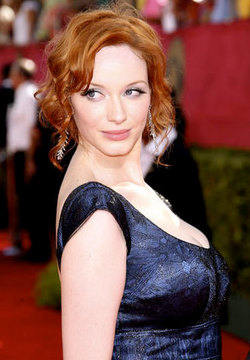 Kristina Hendricks - Redhead, Celebrities, Wavy hair, Updos, Special occasion, Female, Curly hair, 2009 Emmy Awards hairstyle picture