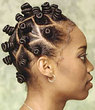 bantu knots - Kinky hair, 4a, 4b