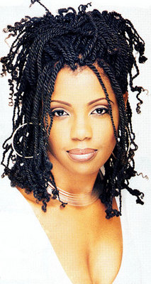 Kinky Twists - Medium hair styles, Long hair styles, Twist hairstyles, Styles, Female, Black hair, Adult hair, Kinky twists hairstyle picture