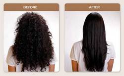 Brazilian Blowout Straightening - Brunette, Long hair styles, Female, Curly hair, Makeovers, Adult hair, Straight hair hairstyle picture