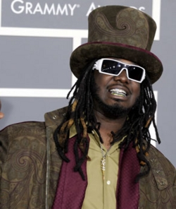 T-Pain - Brunette, 4a, Celebrities, Male, Long hair styles, Braids, 2009 Grammy Awards hairstyle picture
