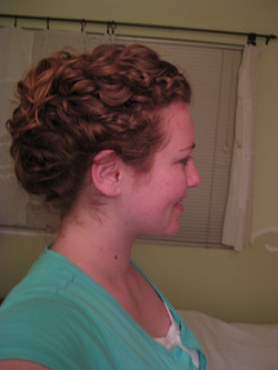 French-twist with a twist_side view - Wedding hairstyles, Readers hairstyle picture
