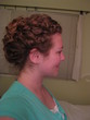french-twist with a twistside view - wedding hairstyles