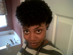 4a Fro Hawk  - Brunette, 4a, 4b, Short hair styles, Kinky hair, Afro, Readers, Female, Black hair, Adult hair, Teeny weeny afro, Mohawk, Punk hair hairstyle picture