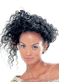 Matrix - Brunette, 3b, 3c, Medium hair styles, Updos, Styles, Female, Black hair hairstyle picture