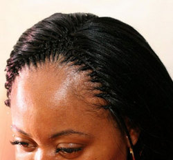 Tree Braids - Styles, Female, Black hair, Adult hair, Straight hair, Tree braids hairstyle picture