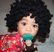 crochet afro wig - black hair
