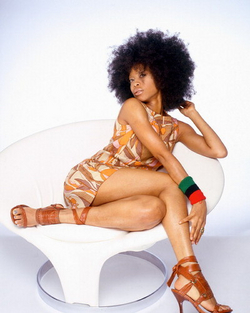 Erykah Badu - 4b, Celebrities, Medium hair styles, Kinky hair, Afro, Styles, Female, Black hair, Adult hair hairstyle picture