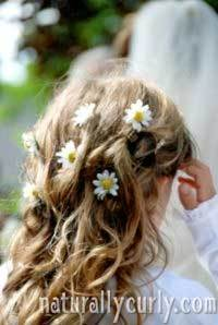 Wedding Hair - Blonde, Wavy hair, Kids hair, Long hair styles, Wedding hairstyles, Styles, Female hairstyle picture