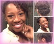 simply elegant quotnaturalquot hair updo - Curly hair, 3a, 3b, 3c