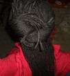 knot with twists - Black hair