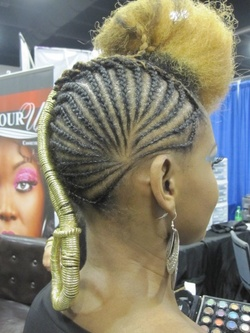 rare1.jpg - Blonde, 4a, 4b, Medium hair styles, Updos, Kinky hair, Braids, Styles, Female, Formal hairstyles, Natural Hair Celebration, Textured Tales from the Street hairstyle picture