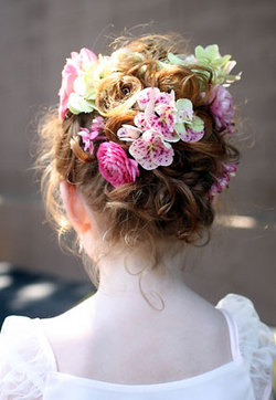 Perfect Posies - Blonde, 3a, Short hair styles, Kids hair, Updos, Wedding hairstyles, Summer hair, Styles, Curly hair hairstyle picture