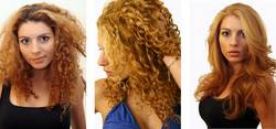 Daniella, before and after - Blonde, 3a, Wavy hair, Long hair styles, Female, Curly hair, Makeovers hairstyle picture