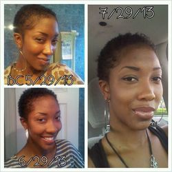 2 months of hair growth... Yayy - 3c, 4a, Short hair styles, Readers, Female, Makeovers, Black hair, Adult hair, Teeny weeny afro hairstyle picture