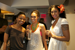 3 Curlies enjoying the Curly Pool Party - Medium hair styles, Kinky hair, Female, Curly hair, Adult hair, Curly kinky hair, Textured Tales from the Street hairstyle picture